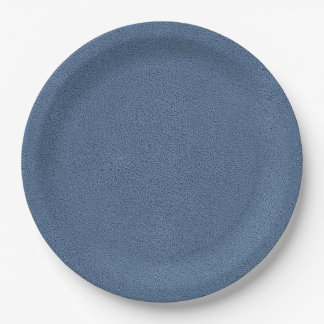 The look of Snuggly Slate Blue Suede Texture Paper Plate