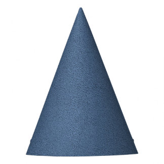 The look of Snuggly Slate Blue Suede Texture Party Hat
