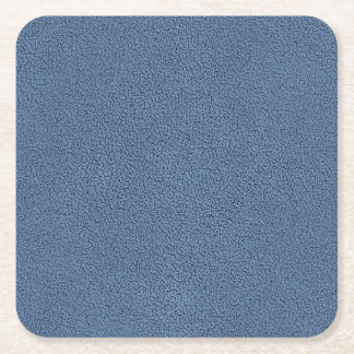 The look of Snuggly Slate Blue Suede Texture Square Paper Coaster