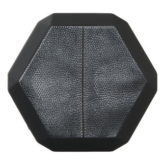 The Look of Soft Stitched Black Leather Grain Black Bluetooth Speaker