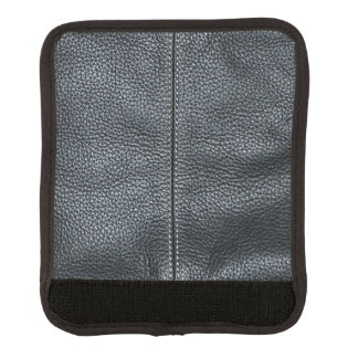 The Look of Soft Stitched Black Leather Grain Handle Wrap
