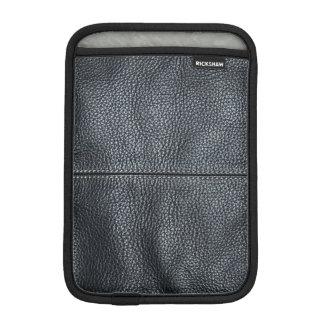 The Look of Soft Stitched Black Leather Grain iPad Mini Sleeve