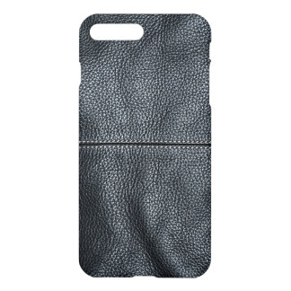 The Look of Soft Stitched Black Leather Grain iPhone 8 Plus/7 Plus Case