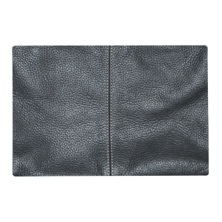 The Look Of Soft Stitched Black Leather Grain Placemat at Zazzle