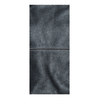The Look of Soft Stitched Black Leather Grain Rack Card