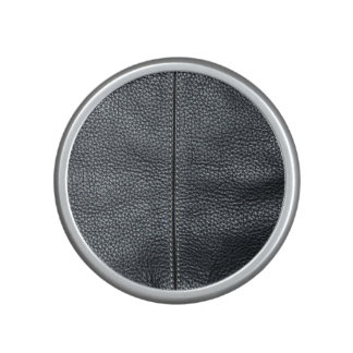 The Look of Soft Stitched Black Leather Grain Speaker