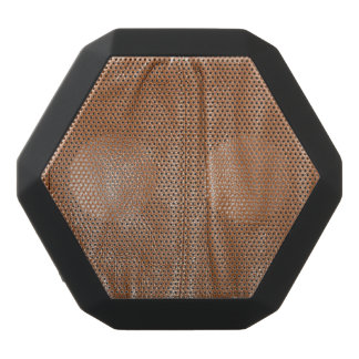 The Look of Soft Supple Brown Leather Grain Black Bluetooth Speaker