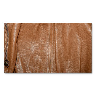 The Look of Soft Supple Brown Leather Grain Business Card Magnet