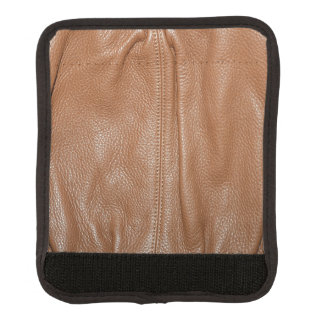 The Look of Soft Supple Brown Leather Grain Luggage Handle Wrap