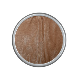 The Look of Soft Supple Brown Leather Grain Speaker