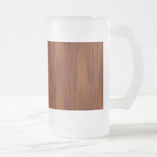 The Look of Warm Oak Wood Grain Texture Frosted Glass Beer Mug