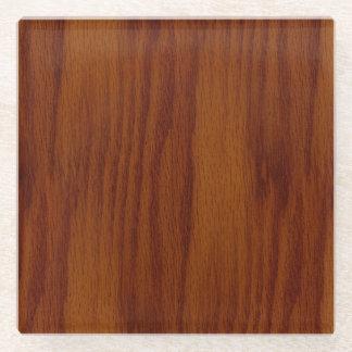 The Look of Warm Oak Wood Grain Texture Glass Coaster