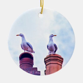 The Lookouts gull birds Christmas Ornament