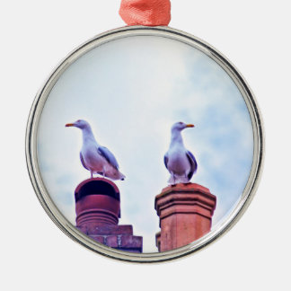 The Lookouts gull birds Christmas Tree Ornaments