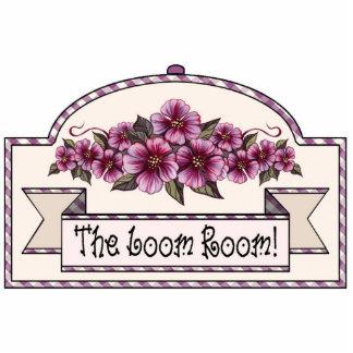 """The Loom Room"" - Decorative Sign - 29 Photo Sculpture Ornament"