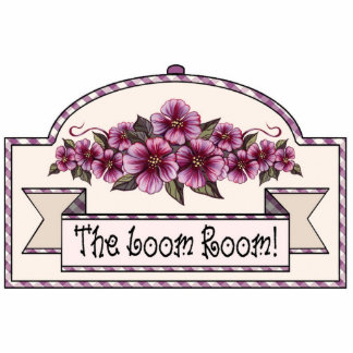 """The Loom Room"" - Decorative Sign - 29 Photo Cutout"