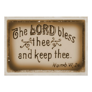 The Lord Blees Thee and Keep Thee Poster