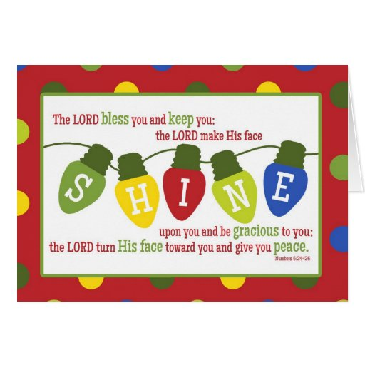 The Lord Bless & Keep You Scripture Christmas Card