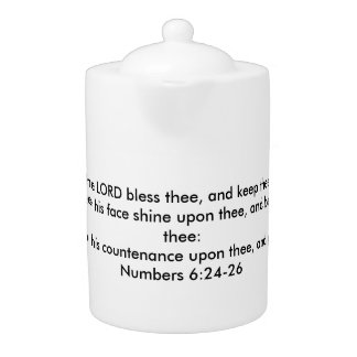 The Lord Bless Thee and Keep Thee Teapot