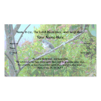 The Lord Bless Thee, Bible Verse Business Card