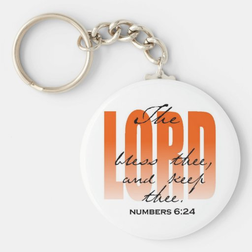 The Lord Bless thee Keychain