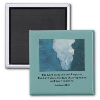 THE LORD BLESS YOU - 1118 2 INCH SQUARE MAGNET