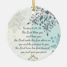 The Lord Bless You, Numbers 6:24, Bible Custom Ceramic Ornament at Zazzle