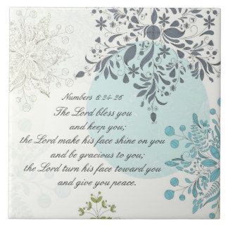 The Lord Bless You, Numbers 6:24 Bible Verse Tile