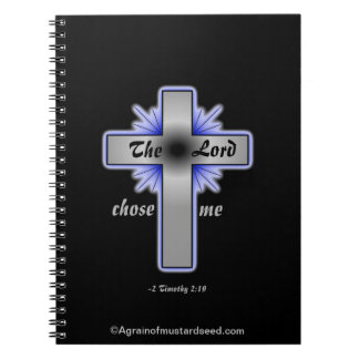 The Lord Chose Me Christian Notebook