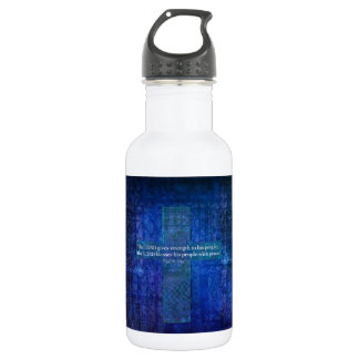 The LORD gives strength to his people 18oz Water Bottle