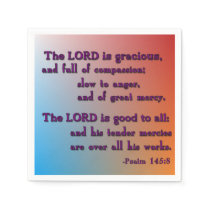 The Lord Is Gracious Paper Napkin