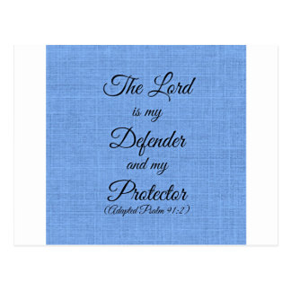 the Lord is my defender Postcard