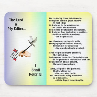 The Lord is My Editor--Mousepad Mouse Pad
