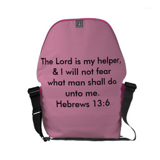 The Lord is my helper Small Messenger Bag
