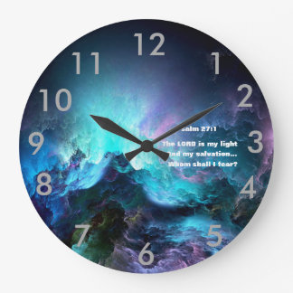 """THE LORD IS MY LIGHT AND MY SALVATION"" CLOCK"