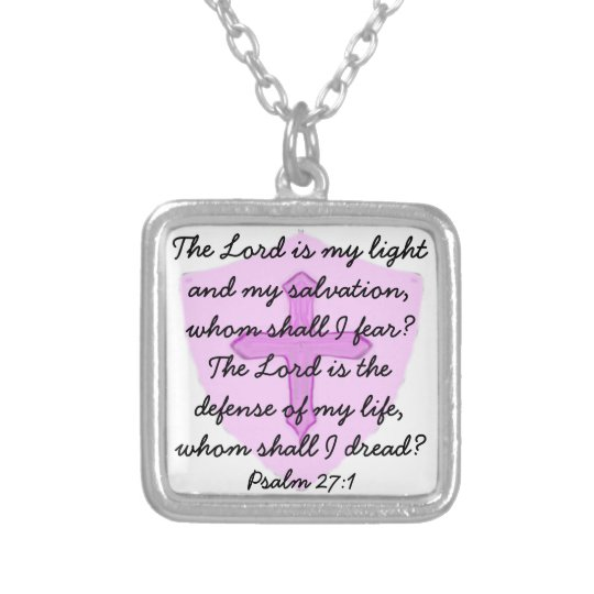 The Lord is my light Christian Necklace