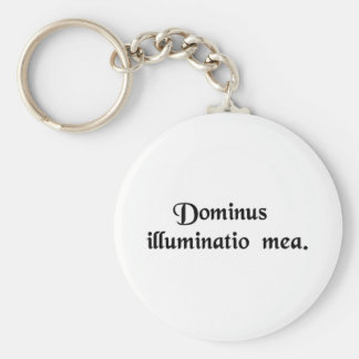 The Lord is my light Keychain