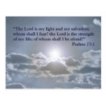 The Lord is my light postcard