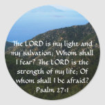 The LORD is my light  - Psalm 27:1 Classic Round Sticker