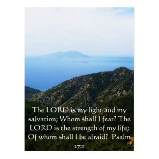 The LORD is my light  - Psalm 27:1 Postcard