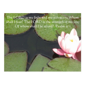 The LORD is my light - Psalm 27 1 Postcards