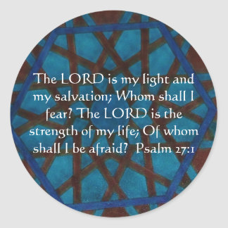 The LORD is my light  - Psalm 27:1 Round Stickers