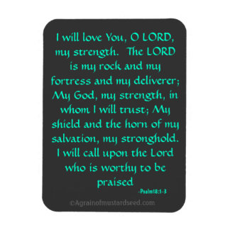 The Lord is my Rock Bible Quote Magnet