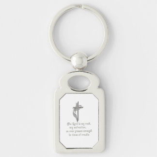 The Lord is my rock Keychain