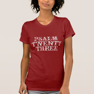 The Lord is my Sheperd Womens Psalm 23 T-shirt