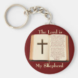 The LORD is my shepherd Basic Round Button Keychain
