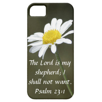The Lord is my shepherd bible verse Psalm 23:1 iPhone SE/5/5s Case