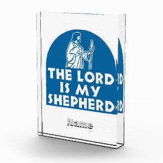 The Lord is my Shepherd Blue Acrylic Award