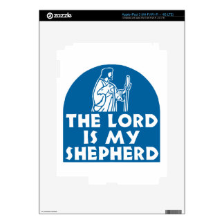 The Lord is my Shepherd Blue Decals For iPad 3