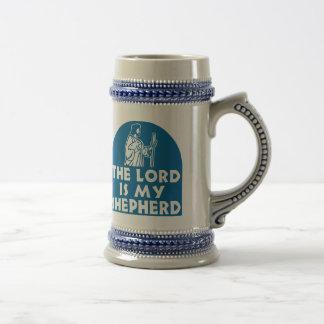 The Lord is my Shepherd Blue 18 Oz Beer Stein